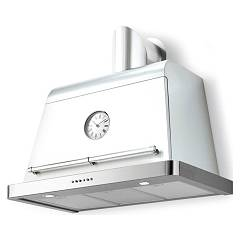 Lav.in L012p09e11 - Country Hood cm. 90 - bianco opaco design wall