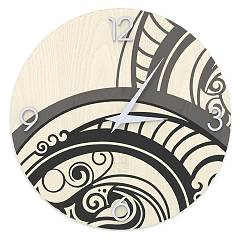 Lignis Dolcevita Abstract Gear Design wall clock 40 cm - wood