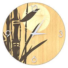 Lignis Dolcevita Nature Bamboo Design wall clock 40 cm - wood Warm