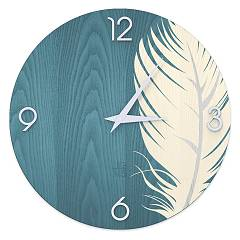 Lignis Dolcevita Nature Plume Design wall clock 40 cm - wood Colors