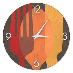 Lignis Dolcevita Objects Sovraposate Design wall clock 40 cm - wood Colors