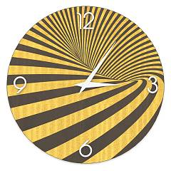 Lignis Dolcevita Abstract Optical Horloge murale design 50 cm - bois Colors