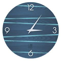 Lignis Dolcevita Lines One Design wall clock 50 cm - wood Colors