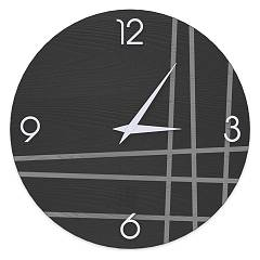 Lignis Dolcevita Lines Two Design wall clock 50 cm - wood Cold