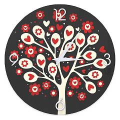 Lignis Dolcevita Love Tree Of Hearts Design wall clock 50 cm - wood Colors