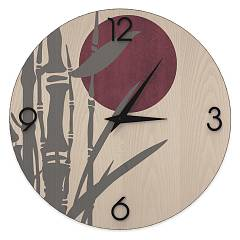 Lignis Dolcevita Nature Bamboo Design wall clock 50 cm - wood Cold