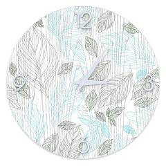 Lignis Dolcevita Nature Leaves Design wall clock 50 cm - wood Colors