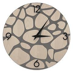 Lignis Dolcevita Nature Stones Design wall clock 50 cm - wood Cold