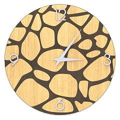 Lignis Dolcevita Nature Stones Design wall clock 50 cm - wood Warm