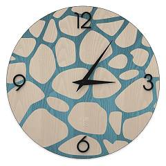 Lignis Dolcevita Nature Stones Design wall clock 50 cm - wood Colors
