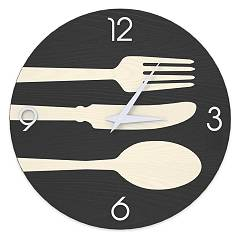 Lignis Dolcevita Objects Cutlery Design wall clock 50 cm - wood Cold