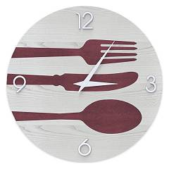 Lignis Dolcevita Objects Cutlery Design wanduhr 50 cm - holz Colors