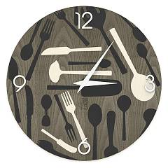 Lignis Dolcevita Objects Kitchentools Design wall clock 50 cm - wood Cold