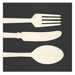 Lignis Objects Cutlery Cold Framework cm. 75 x 75 Dolcevita
