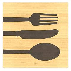 Lignis Objects Cutlery Warm Framework cm. 75 x 75 Dolcevita