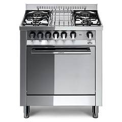 Lofra M75mf Kitchen from accosto cm. 70 x 50 - inox 4 fires + 1 electric oven Maxima