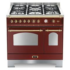 Lofra Rrd96mfte/ci Kitchen from accosto cm. 90 x 60 - red burgundy 5 fires + 2 electric ovens Dolcevita