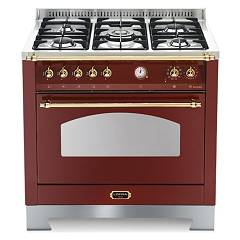 Lofra Rrg96mft/ci Kitchen from accosto cm. 90 x 60 - red burgundy 5 fires + 1 electric oven Dolcevita