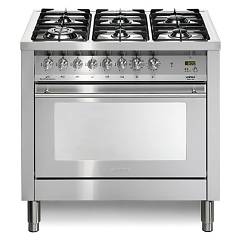 Lofra Pg96mft/cisf Kitchen from accosto cm. 90 x 60 - inox 6 fires + 1 electric oven Special