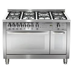 Lofra Csd126gv+e/2ci Curva Kitchen from accosto cm. 120 x 60 - inox 7 fires + 2 electric and gas ovens Special