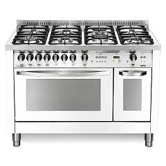 Lofra Pbpd126gv+e/2ci Kitchen from accosto cm. 120 x 60 - bianco perla 7 fires + 2 electric and gas ovens Special