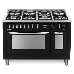 Lofra Pnmd126gv+e/2ci Kitchen from accosto cm. 120 x 60 - black matt 7 fires + 2 electric and gas ovens Special
