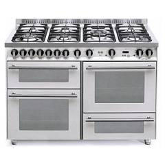 Lofra Pbp126smfe+mf/2ci Kitchen from accosto cm. 120 x 60 - white pearl 7 fires + 3 electric ovens Special