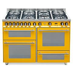 Lofra Pg126smfe+mf/2ci Kitchen from accosto cm. 120 x 60 - yellow 7 fires + 3 electric ovens Special