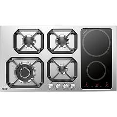 sale Lofra Hls9g2i Nettuno 90 Combi Hob Cm. 90 - Inox 4-burner + Induction