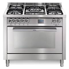 Lofra Pg106mft/ui Kitchen from accosto cm. 100 x 60 - inox 5 fires + 1 gas oven Special