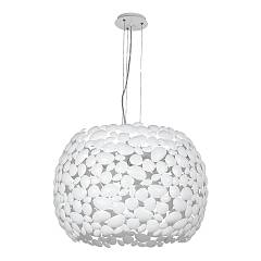 Luce Ambiente Design I-dioniso-s65-bco Large chandelier with pebbles in matt white metal Dioniso