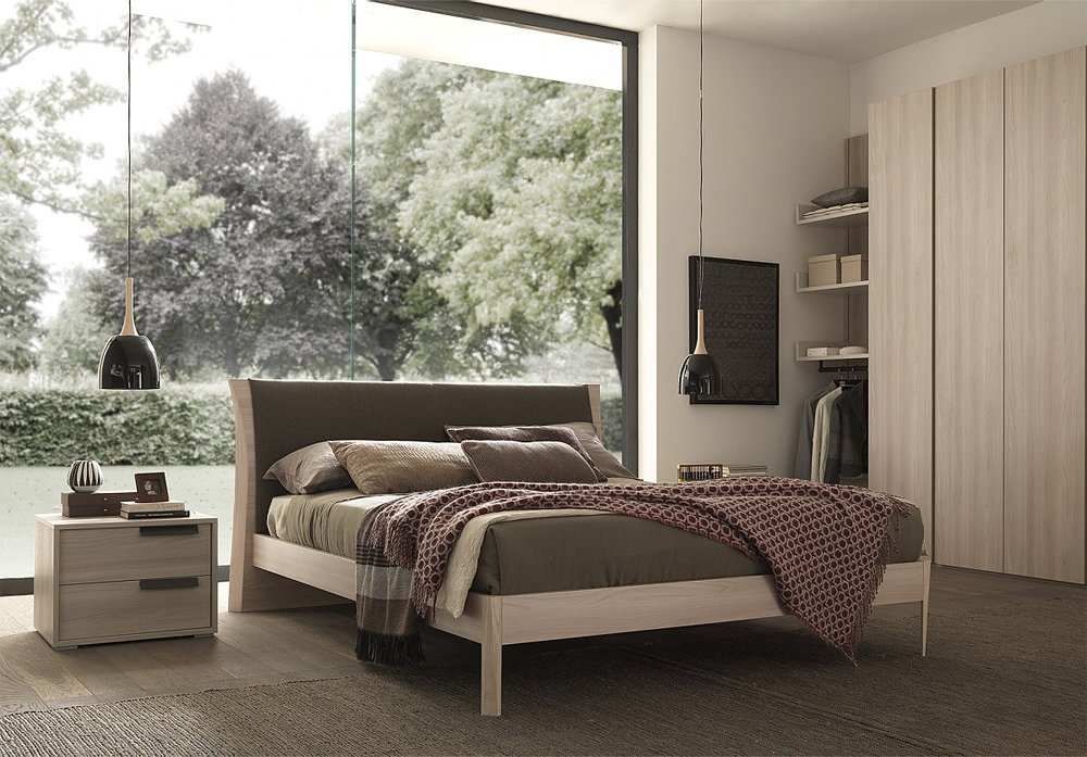 Photos 1: Mab JOY Double bed in wood
