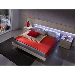 Mab Plain Box Double bed wooden with box