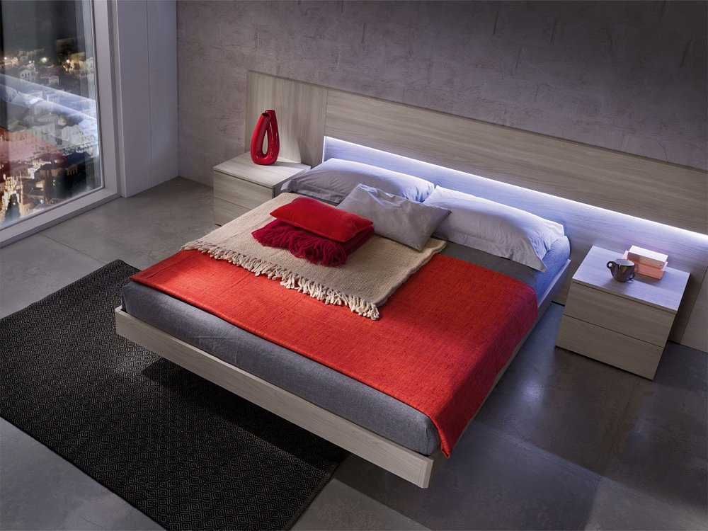 Photos 1: Mab PLAIN BOX Double bed in wood with container