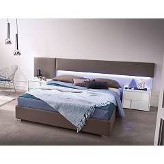 Mab Plain Soft Padded double bed