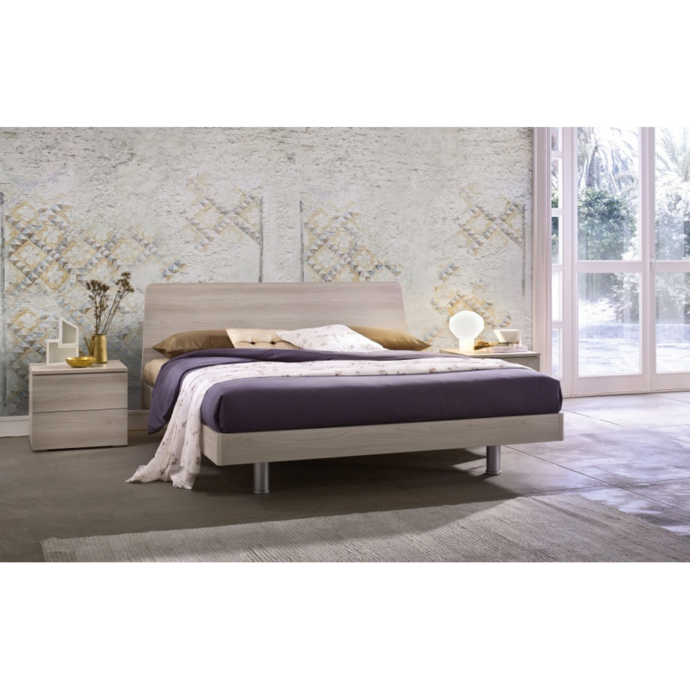 Photos 1: Mab Bed a square and half in wood TULIP