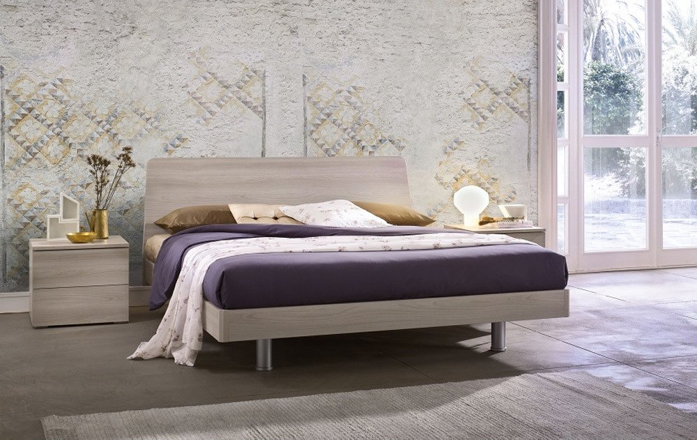 Photos 1: Mab TULIP Double bed in wood