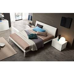 Mab Vela Box Double bed in wood with container