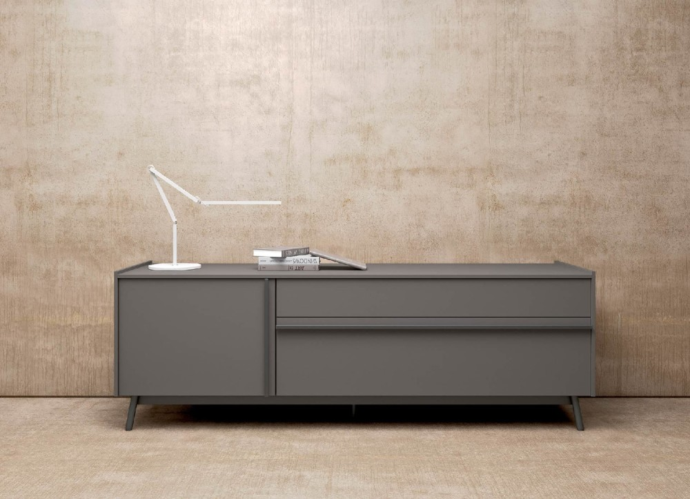 Mab Glamour 1 Sid Mda 130 Sideboard 195x51x66 In Wood Lacquered Wood With 1 Door And 2 Drawers Vieffetrade