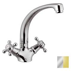 Mariani 336/tr .2b - Tradition Kitchen tap - chrome-brass pvd focus mouth
