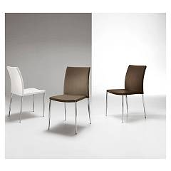 Max Home Gold Chair in metal and eco-leather