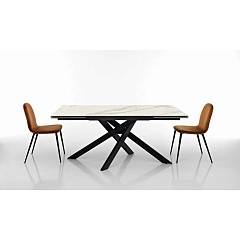 Max Home Blair Fixed table | extendable metal modular with wooden tops | melamine folding | glass ceramic