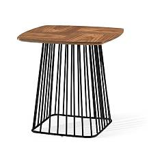 Max Home Rufus Alto Coffee table 50 x 50 cm with metal frame and wooden top