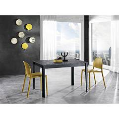 Max Home Otis Melamine table and structure in solid matt lacquered beech
