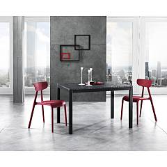 Max Home Nabil Extendable table with matt lacquered metal structure and melamine top