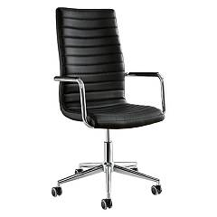 Midj ISTAR Chair home office metal and fabric / ecoleather / leather
