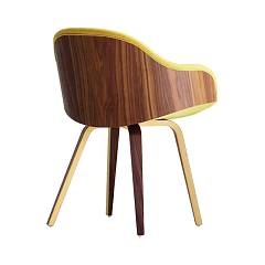 sale Midj Danny Pb-ny Chair In Wood And Fabric / Ecoleather / Leather