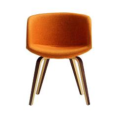 sale Midj Danny P-ny Chair In Wood And Fabric / Ecoleather / Leather