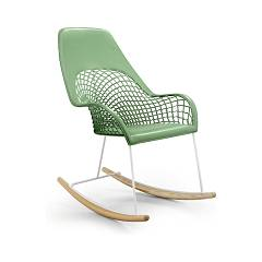 Midj Guapa Dna A rocking chair in metal and leather