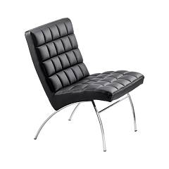 Midj Marsiglia Att Chair in metal and fabric / leather / faux leather
